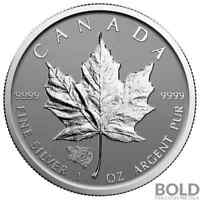 2016 Silver 1 oz Canada Maple Leaf Grizzly Bear Privy