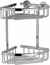Alux Acessories Never Drill Again Double Corner Shower Basket