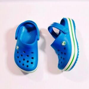 Crocs Kids Crocband Clog Navy / Volt Green Clogs