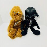 "Chewbacca & Darth Vader Star Wars The Northwest Company Plush Toy Lot 15"""