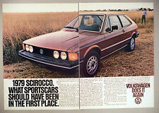 Volkswagen VW Scirocco 2-Page PRINT AD - 1979