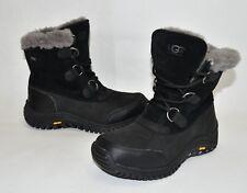 New! Ugg Ostrander Waterproof UGGpure Winter Boot Black Leather Size 7 1008125