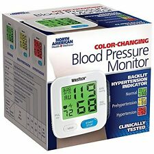 Wrist Tech Blood Pressure Monitor Adjustable Wrist Cuff Color Changing Monitor
