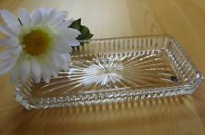 Vintage Rectangular Clear Pressed Glass Butter Dish Liner Vanity Tray