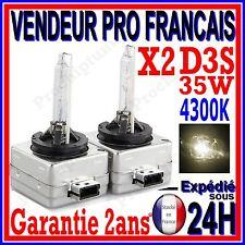 2 AMPOULES D3S AU XENON 35W KIT HID 12V LAMPE RECHANGE D ORIGINE FEU PHARE 4300K