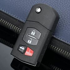 4 BTN Remote Key Fob Case Shell for Mazda 3 5 6 RX-8 CX-7 CX-9 Miata 3 + Panic