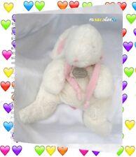 Doudou Peluche Lapin Bonbon Blanc Noeud Rose Grand Modèle Doudou Et Compagnie