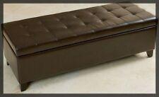 Modern Leather Ottoman Storage Ottomen