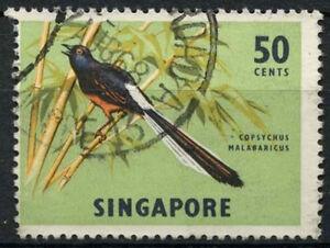 SIngapore 1966-7 SG#87, 50c Bird Definitive Wmk Sideways Used #D18477