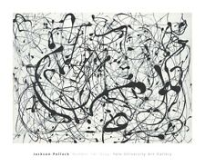 Number 14: Gray by Jackson Pollock Abstract Art Print Poster 26x32