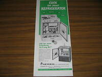 1953 Vintage Ad General Air Conditioning Refrigerator with Stove and Sink on Top