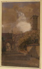 Beau lavis d'encre sur trait de plume de François Victor SABATIER 1823- ?