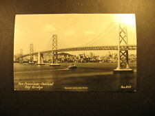 San Francisco-Oakland Bay Bridge, real photo unused postcard