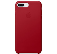 Rot Apple Echt Original Leder Schutz Hülle Leather Case iPhone 8/7 Plus
