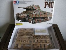 Italian Heavy Tank P 40 de TAMIYA à l'échelle 1:35 * NOUVEAU *
