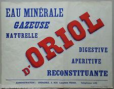 Grenoble - Eau d'Oriol, Cornillon en Trieves - Affiche ancienne originale/poster