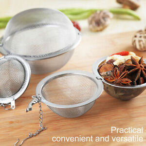 Tea Ball Strainer Infuser - Stainless Steel Mesh Filter Herb Leafs Spice Ball