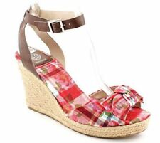 Marc Fisher Women's Happly Wedge Sandals in Red Size 5