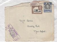 Kenya Uganda and Tanganyika KGVI 1/- 30c Cover To Oxford Censor Passed X8868