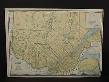 Vintage Map, 1934, Quebec R1#24