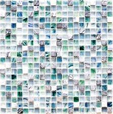 Glasmosaik Naturstein cream grünblau mix Wand WC Bad Art:WB92-XCR1501 1 Matte
