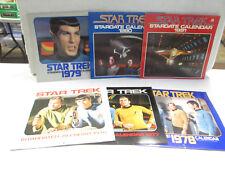 Lot of 6 Star Trek Calendars 1976-1981