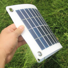 12V Solar Panel Charger With Alligator Clip & Car Lighter Cable for Car Boat