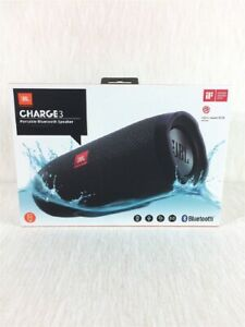 NEW JBL Charge 3 Portable Bluetooth Speaker IP67 Waterproof & USB Charge Out ⚫️