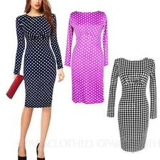 Cotton Blend Polka Dot Wiggle/Pencil Casual Dresses for Women
