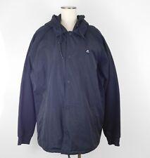 RVCA Sz XXL Black Game Day Puffer Nylon Cotton Hoodie Jacket