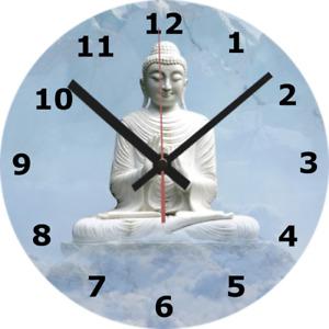 WALL CLOCK BUDDHA SILENT 25cm Meditation Relaxing Spiritual Zen Home diy 729