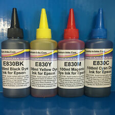 4X 100ML NON OEM PRINTER REFILL INK FOR EPSON T1291 T1292 T1293 T1294 T1295 CISS