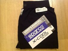 NEW sparco x-cool SILVER RW9 SHIELD FIA 8856-2000 racing Bottoms BLACK XL/XXL