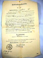 Geburtsurkunde von 1895