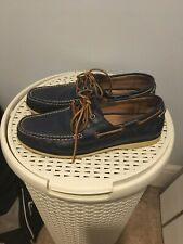 Mens Ralph Lauren Boat Shoes Size Uk9 Navy Blue