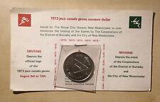 1973 Jeux Canada Games Souvenir Dollar Vintage With Papers