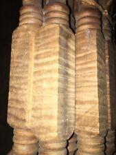 "11 Antique Tiger Maple Table Legs 23 1/2"""