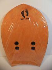 Hang Ten Wood Surfing Hand Planes Board Orange Made in America California Surf