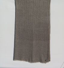 100% Cashmere|4 Ply|Natural|Throw/Shawl|H and Loomed|Nepal|2 Color|Taupe/Dk Gray