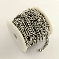 Stainless Steel Curb Chain Reel - 25 Metres - 6 x 4 x 1 mm Link Sizes - 25 Metre