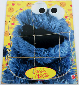 Cookie Monster Wooden Frame Tray 8 Piece Puzzle Mattel 42014