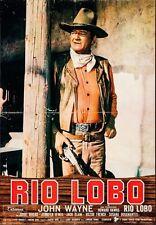 RIO LOBO Italian 1F movie poster JOHN WAYNE HOWARD HAWKS WESTERN 1970