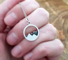 The Mountains are Calling and I Must Go. Sterling Silver Mountain necklace.