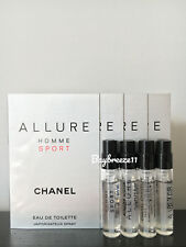 4 x Chanel Allure Homme Sport EDT Spray Samples Cologne 1.5ml / 0.05oz each
