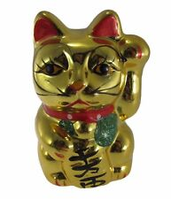 1x NEW CERAMIC JAPAN Maneki Neko LUCKY CAT Figure Doll Figurine Money box