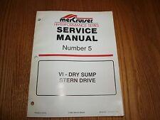 MerCruiser Hi-Performance Series Manual #5 VI-Dry Sump Stern Drive PN 90-840250