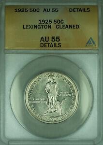 1925 Lexington Commemorative Silver Half Dollar 50c Coin ANACS AU-55 Details