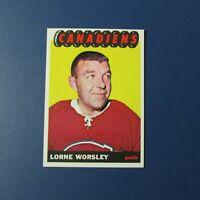 LORNE GUMP WORSLEY   1965-66 Topps  # 2  Montreal Canadiens  1965 1966  65-66