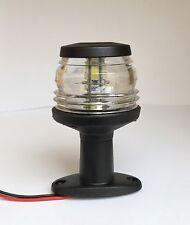 LED Luz De Navegación Todo Redondo 360 dergee mástil Ancla Negro Estilo Clásico