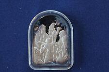 1978 Hamilton Mint Ten Commandments V Honour Father Mother Silver Art Bar P0130